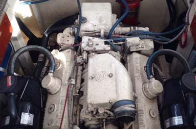 The current boat engine - a Detroit 892