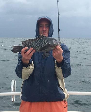November rain charters montauk ny september 30 2017 for Bass fishing rain gear